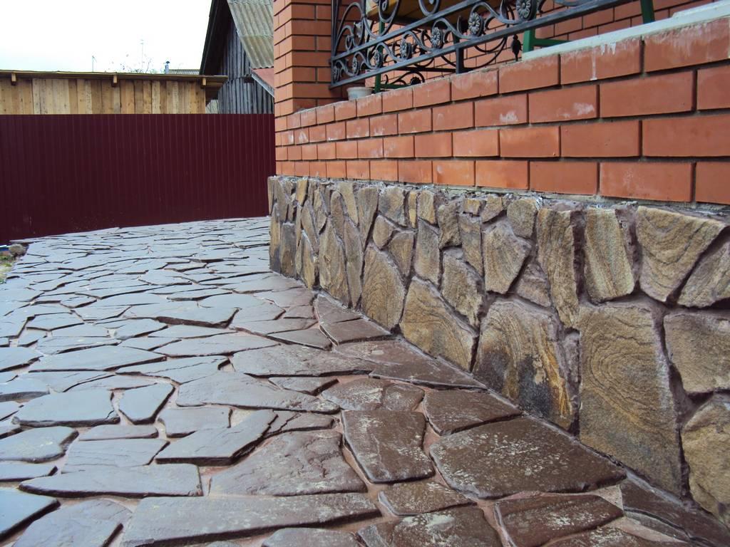 Камень для цоколя дома своими руками