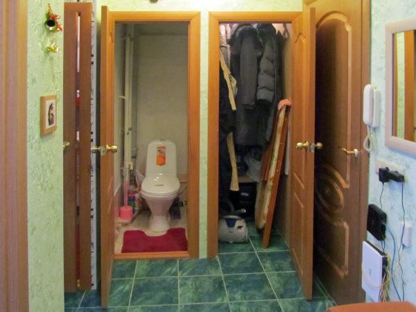 Перенос туалета в кладовку