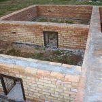 Фундамент кирпичный для подвала дома