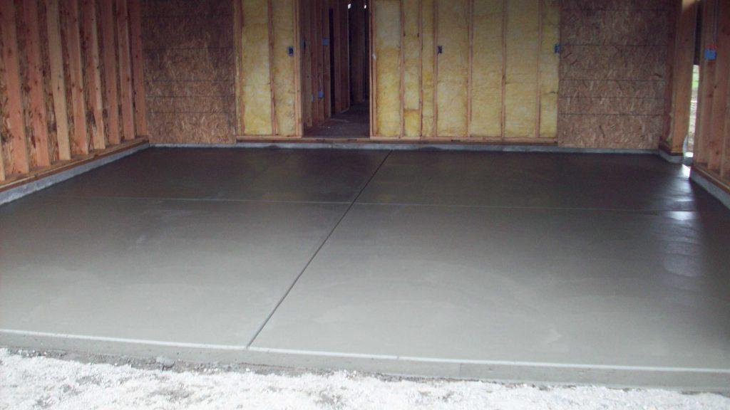 заливка бетонных полов в гараже